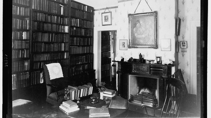 A photo of Ralph Waldo Emerson's study
