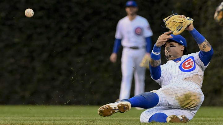 Javier Báez at the Chicago Cubs' September 30 game against the St. Louis Cardinals