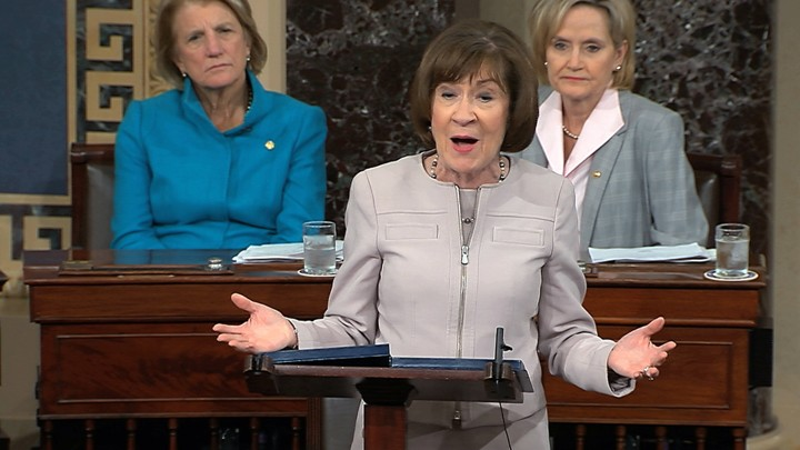 Senator Susan Collins on the Senate Floor