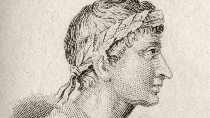 A portrait of the Roman poet Ovid.