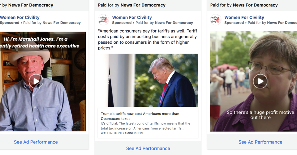 A Mystery Group Spends Millions on Facebook Political Ads