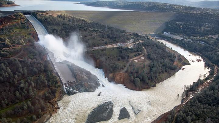 A dam that's sprung a leak