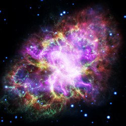 A Hubble Space Telescope image of the Crab Nebula