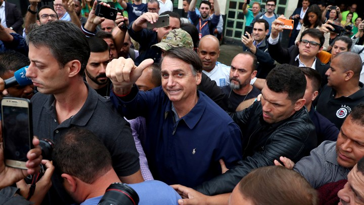 Brazil's Far-Right Populist Wins The First Round of Presidential