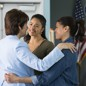 Alba (Ivonne Coll), left, celebrates after passing her U.S. citizenship test in Season 4 of 'Jane the Virgin'