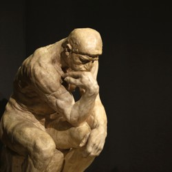 """""""The Thinker,"""" by Auguste Rodin"""