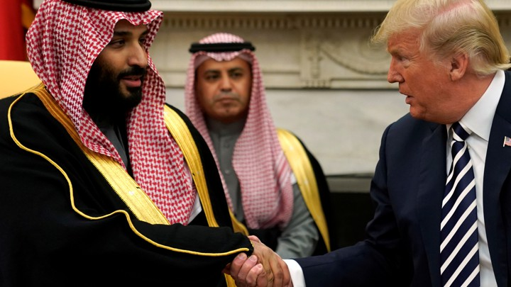 President Trump meets with Saudi Crown Prince Mohammed bin Salman at the White House in March.