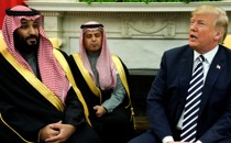 Trump welcomes Saudi Arabia's Crown Prince Mohammed bin Salman in the Oval Office at the White House