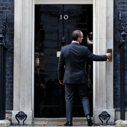 Now-former Brexit Secretary Dominic Raab arrives at 10 Downing on November 13.