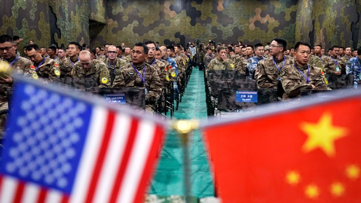 "Personnel from the U.S. Army and the People's Liberation Army attend a closing ceremony of a ""Disaster Management Exchange"" near Nanjing, China, on November 17, 2018."