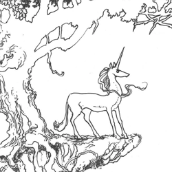 An illustration from 'The Last Unicorn: The Lost Journey'