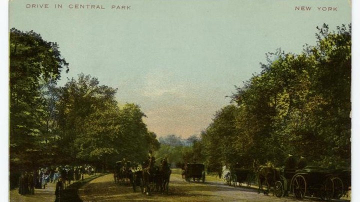 A postcard of Central Park