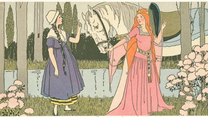 A 1921 illustration from 'The Goose Girl'