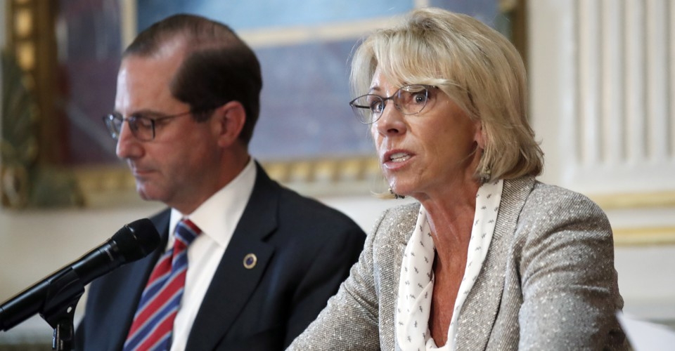Devos Scraps More Out Of Date Federal >> Trump S School Safety Commission S Strange Focus On Discipline The