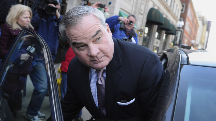 0d413c34ddf Former Connecticut Governor John Rowland leaves federal court in New Haven  in 2015 after he was sentenced to 30 months in prison for his role in a ...