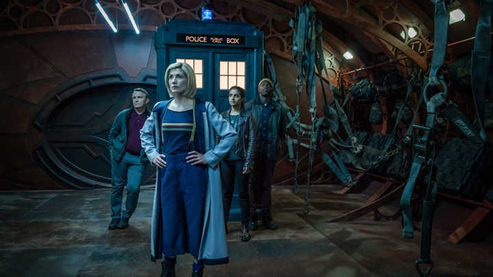 From left to right: Bradley Walsh as Graham, Jodie Whittaker as the Doctor, Mandip Gill as Yaz, and Tosin Cole as Ryan in 'Doctor Who'