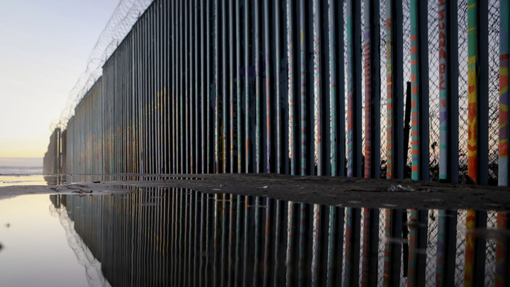 a fence at the united states border with mexico in tijuanamario tama getty