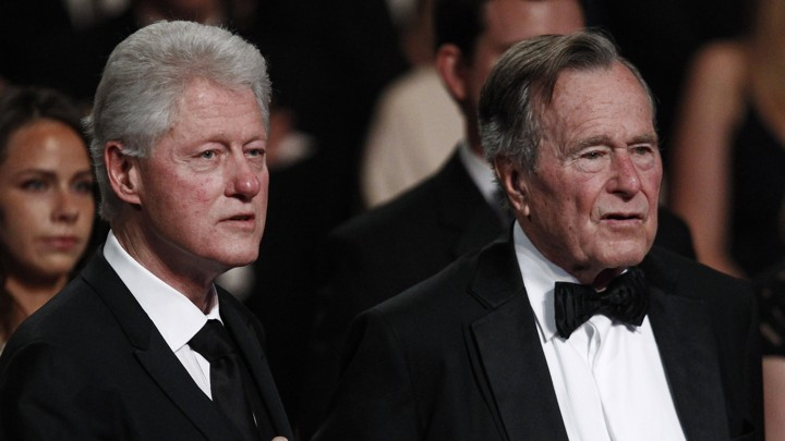 18264095619 Former Presidents Bill Clinton and George H. W. Bush at the Kennedy Center  in March 2011.Jim Young   Reuters