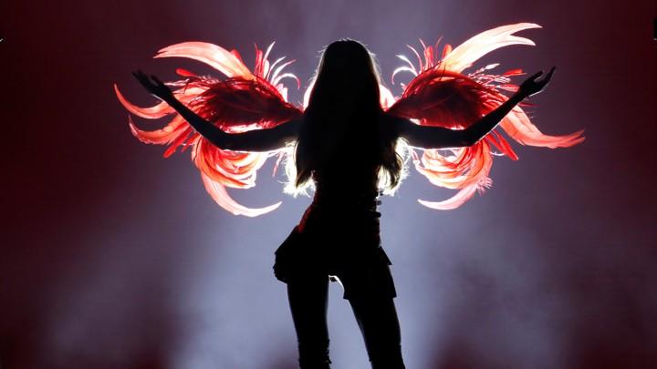 f7f2173de A Victoria s Secret model poses during the brand s annual runway show.Mike  Segar   Reuters