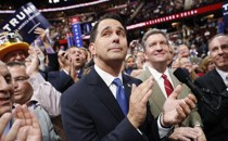 Wisconsin Governor Scott Walker at the Republican National Convention in Cleveland, Ohio, on July 19, 2016