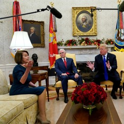 President Trump and Vice President Pence met with Democratic leaders on Tuesday