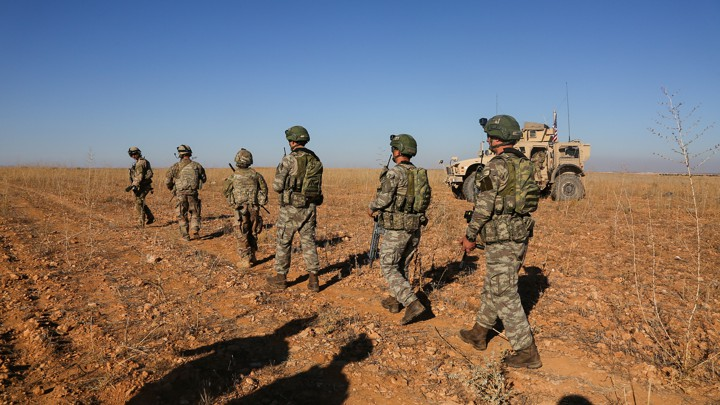 U.S. and Turkish soldiers in Syria