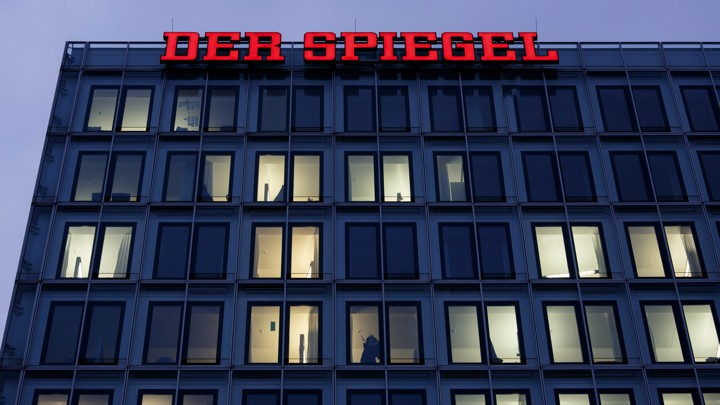 The Der Spiegel office in Hamburg, Germany.