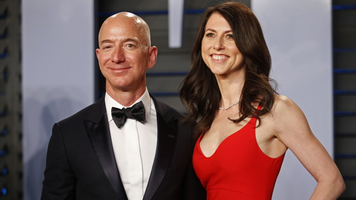 Jeff and MacKenzie Bezos in 2018.
