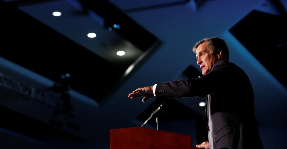 Mitt Romney's Noisy Arrival in Trump's Washington