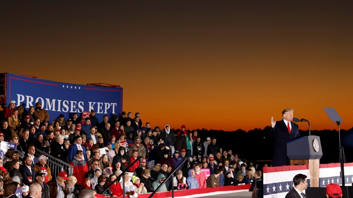 7976289fd7f6 President Trump is joined by supporters at a campaign rally for Senator  Cindy Hyde-Smith of Mississippi in Tupelo.Kevin Lamarque   Reuters