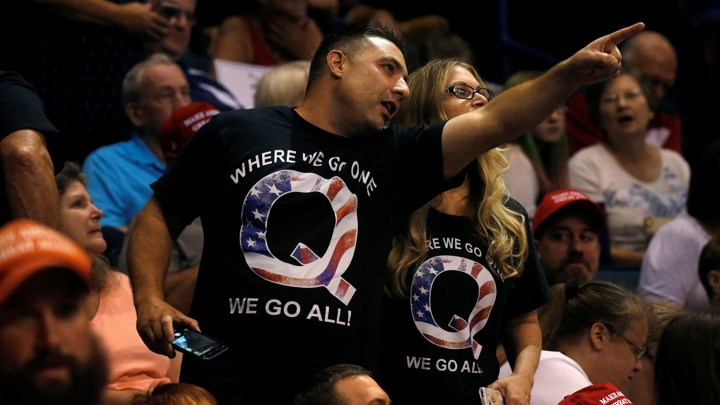 Image of: Charlie Bit People At Donald Trump Rally In Shirts Promoting Q Conspiracy Theory Involving The Presidentleah Millis Reuters The Atlantic Why Conspiracy Videos Go Viral On Youtube The Atlantic