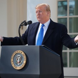Donald Trump declares a national emergency