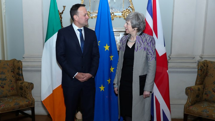 British Prime Minister Theresa May meets Irish Prime Minister (Taoiseach) Leo Varadkar.