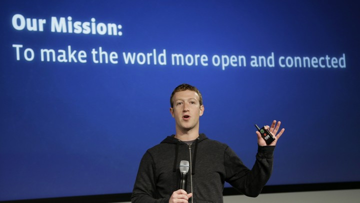 Mark Zuckerberg onstage with a microphone