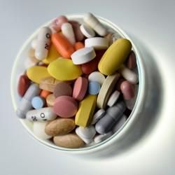 A bottle of pills
