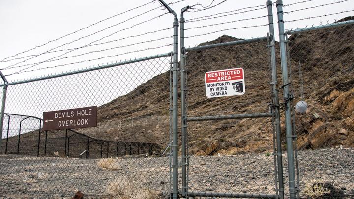 The gate surrounding Devil's Hole