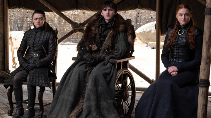 Arya, Bran, and Sansa Stark in the 'Game of Thrones' finale