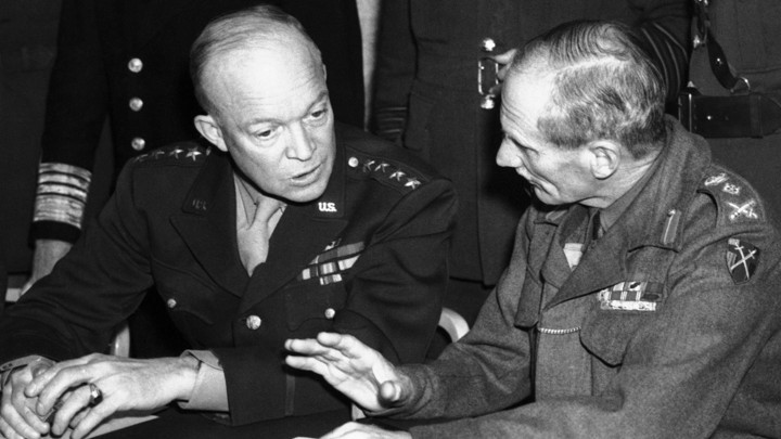 General Dwight Eisenhower, left, and General Sir Bernard L. Montgomery often clashed, but that didn't affect the larger U.S.-U.K. relationship.