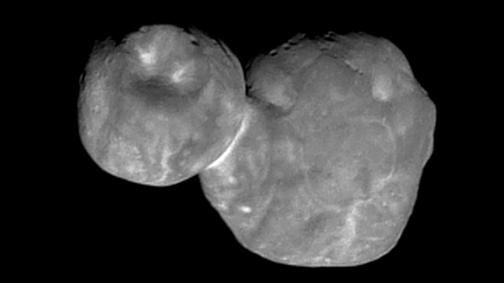 An image of (486958) 2014 MU69, also known as Ultima Thule