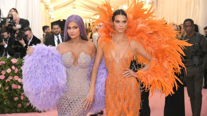 Kylie and Kendall Jenner at the Met Gala red carpet
