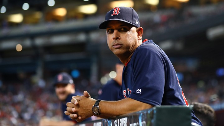 The Boston Red Sox manager Alex Cora