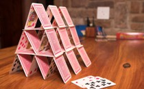 A house of playing cards