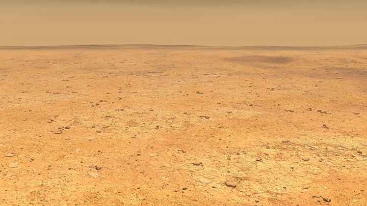 The surface of Mars