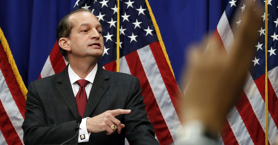 Instead of Apologizing to Epstein's Victims, Acosta Tells Them to Come Forward