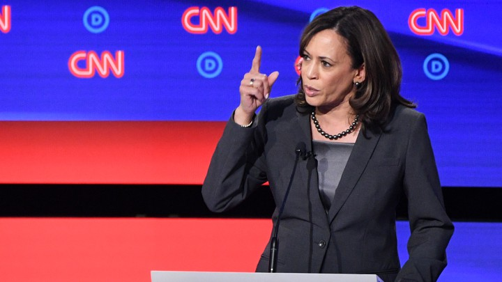 Kamala Harris speaks at the CNN democratic debate.