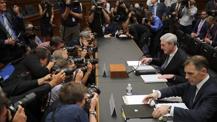 Former Special Counsel Robert Mueller testifies before the House Judiciary Committee on Wednesday.