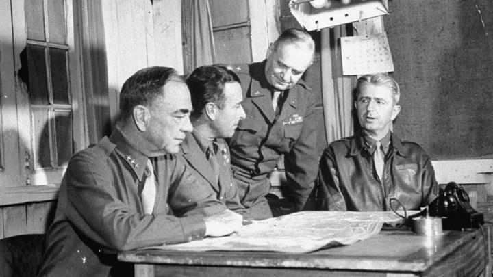 "William ""Wild Bill"" Donovan (standing) in 1945"