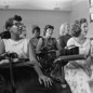 Students sit in an integrated classroom at Anacostia High School, in Washington, D.C., 1957.