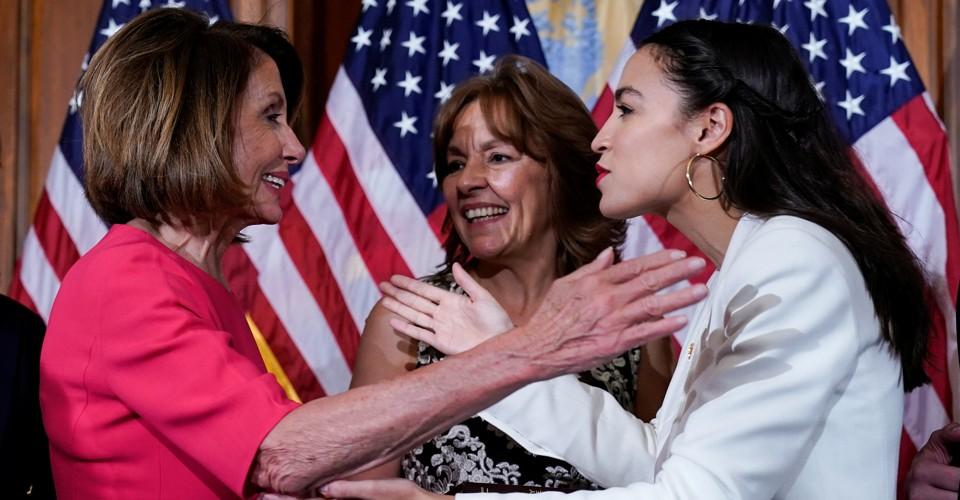 Image result for Nancy Pelosi AOC