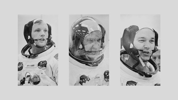 The Apollo 11 crew, from left: Neil Armstrong, Buzz Aldrin, and Mike Collins
